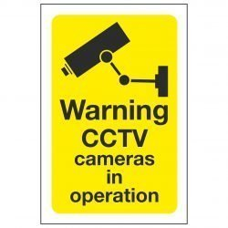 Warning CCTV cameras in operation