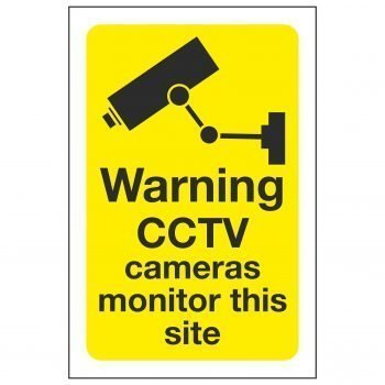 Warning CCTV cameras monitor this site