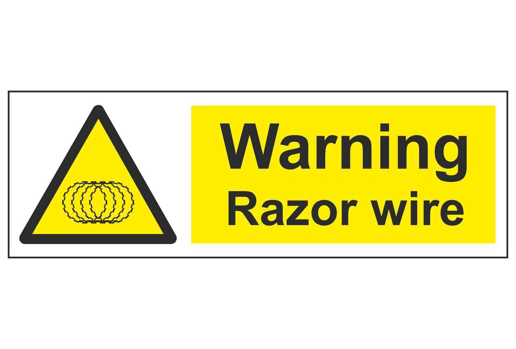 Warning Razor wire