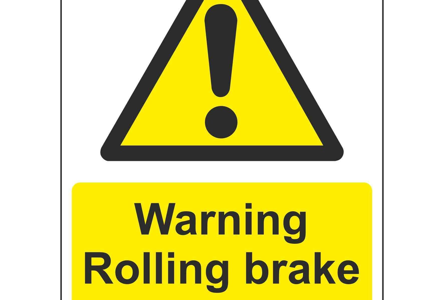 Warning Rolling brake tester