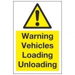 Warning Vehicles Loading Unloading