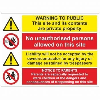 Warning to public notice to parents