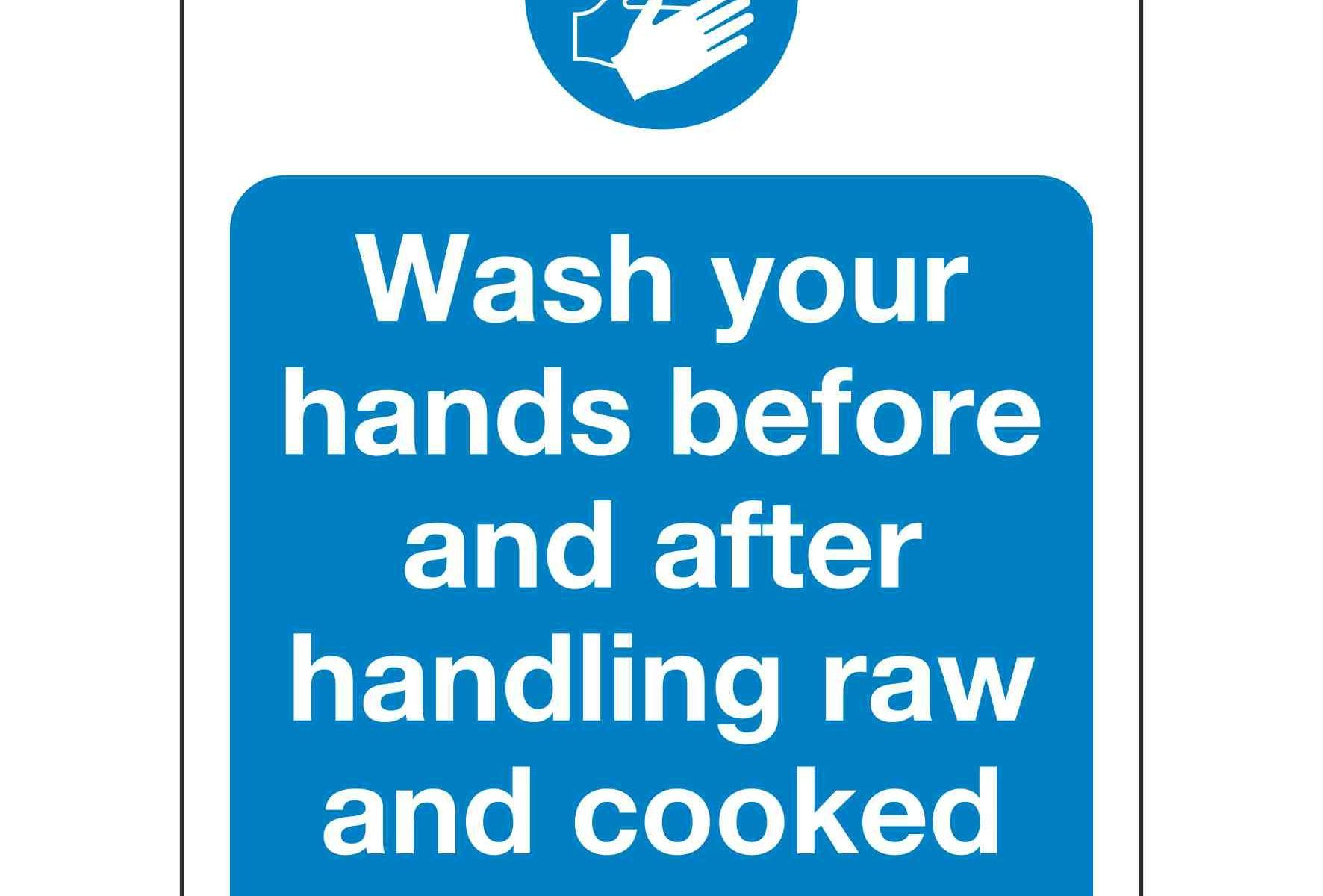 Wash your hands before and after handling raw and cooked meat
