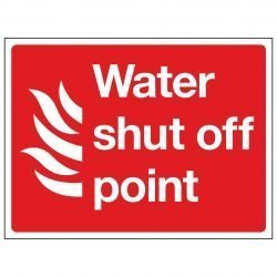 Water shut off point