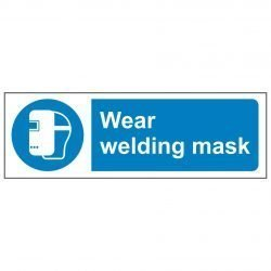 Wear welding mask