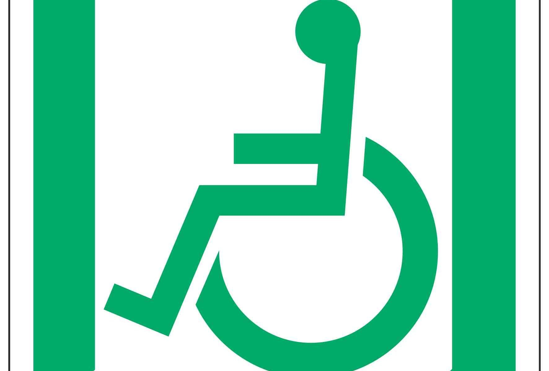 Wheelchair Symbol Left