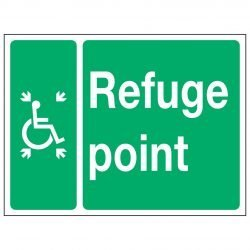 Wheelchair Symbol Refuge point