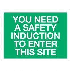 YOU NEED A SAFETY INDUCTION TO ENTER THIS SITE